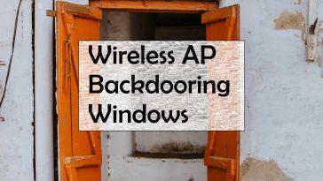 backdooring windows